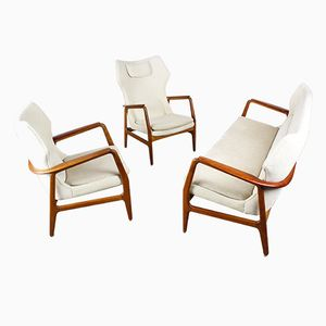 Mid-Century Wingback Living Room Set by Aksel Bender Madsen for Bovenkamp, Set of 3