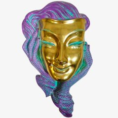 Wall Mask by Hans Schirmer for Achatit-Werkstätten