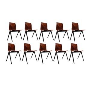 S22 Zirkel Stühle von Galvanitas, 1970er, 10er Set