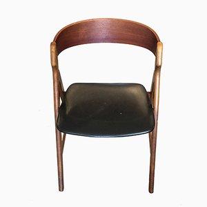 Dänischer Modell 71 Stuhl aus Teakholz von Henning Kjaernulf, 1950er