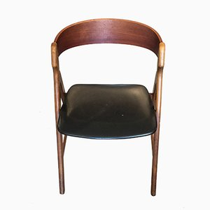 Danish Model 71 Teak Chair by Henning Kjaernulf, 1950s