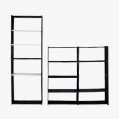 Mid-Century Mobile-Racks Modular Wall System by Rudolf Wolf for Elsrijk, 1957, Set of 2