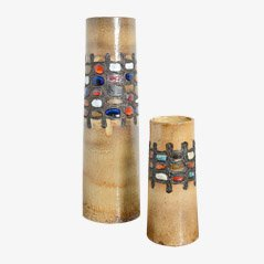 Ceramic Vases by Perignem, 1960s, Set of 2