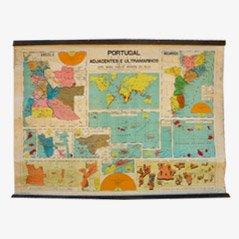 Vintage Landkarte von Portugal, 1940er