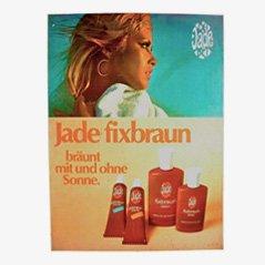 Vintage Jade Fixbraun Reklameschild, 1970er