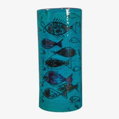 Rimini Blu Keramikvase von Aldo Londi für Bitossi, 1950er
