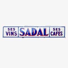 Ses Vins Sedal Ses Cafes Vintage Schild, 1950