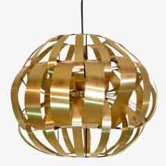 Aluminium Ceiling Lamp by Max Sauze, 1970s