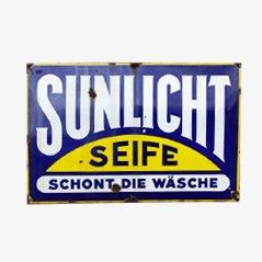 Insegna grande Sunlicht vintage smaltata