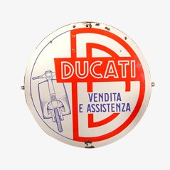 Italienisches Vintage Werbeschild für Ducati