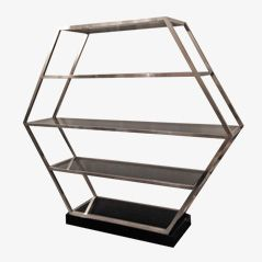 Chromed Steel Etagère by Romeo Rega, 1970s