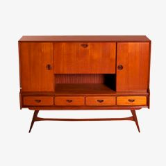 Dutch Teak Highboard by Louis van Teeffelen for Webé, 1960s