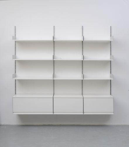 deutsche 606 holz aluminium regaleinheit von dieter rams f r vitsoe 1960er bei pamono kaufen. Black Bedroom Furniture Sets. Home Design Ideas