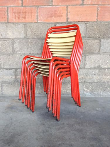 Vintage t2 chairs by xavier pauchard for tolix set of 6 for sale at pamono - Chaise tolix vintage ...