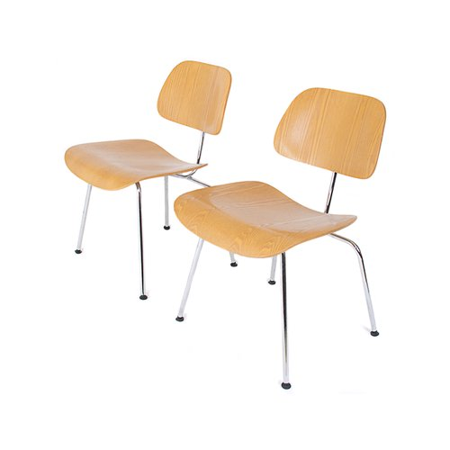 Dcm chairs by charles and ray eames for vitra set of 2 for Chaise eames dkr
