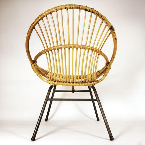 Franz sischer vintage stuhl aus bambus rattan 1960er for Stuhl designklassiker vintage