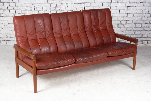d nisches drei sitzer sofa von arne wahl iversen f r. Black Bedroom Furniture Sets. Home Design Ideas