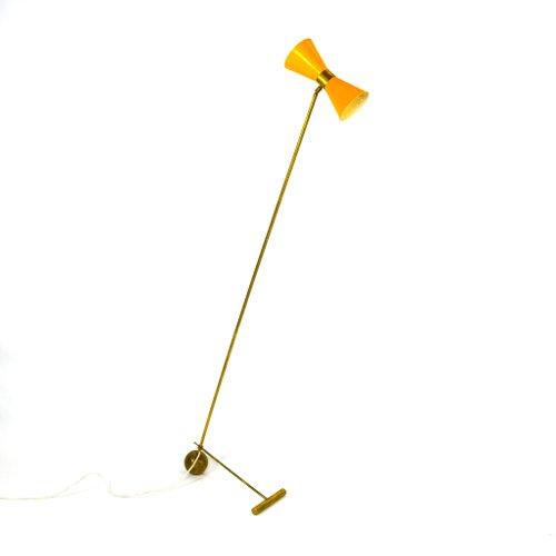Lampade da terra regolabili in ottone, Italia, anni 50 ...