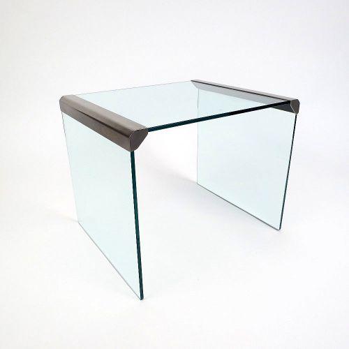 Stahl & Glas Beistelltisch von Gallotti & Radice, 1970er ...