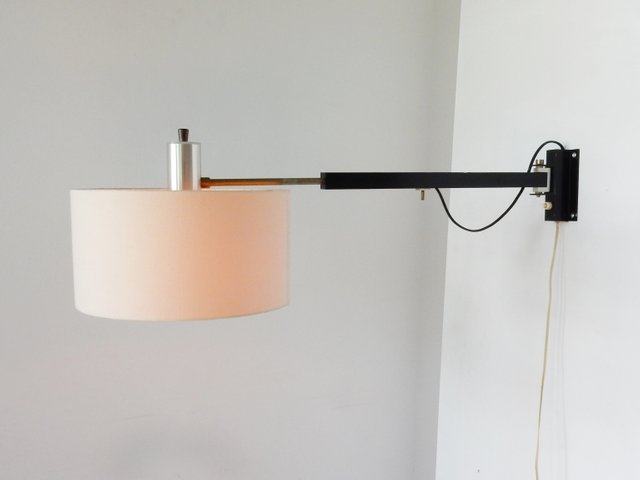 Vintage Extendable Swiveling Wall Lamp, 1960s for sale at Pamono