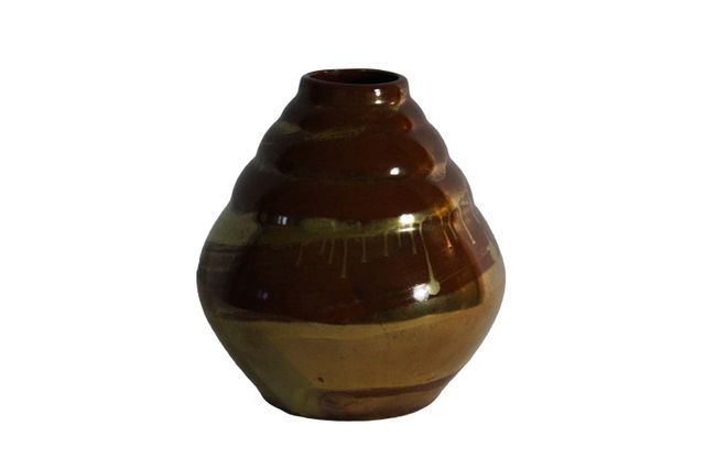 Art Deco Stoneware Vase By Lucien Brisdoux 1920s For Sale