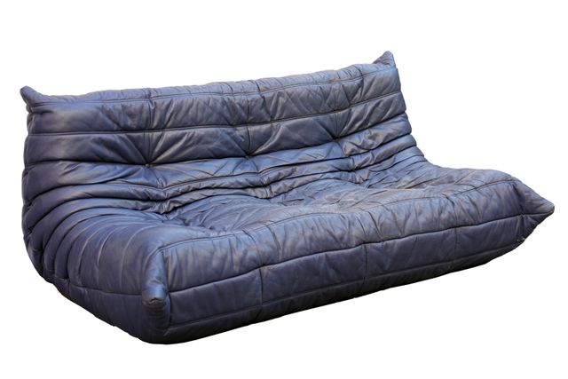 Canap togo bleu en cuir par michael ducaroy pour ligne roset en vente sur pa - Canape imitation togo ...