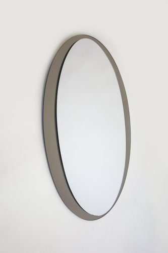 Miroir mid century elliptique italie en vente sur pamono for Miroir elliptique