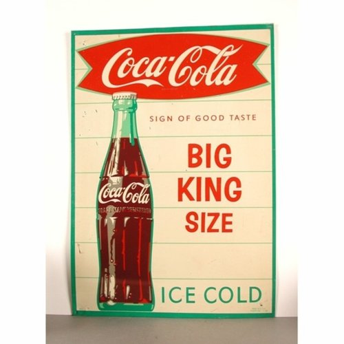 Vintage Coca Cola Advertisement Sign 1960s For Sale At Pamono