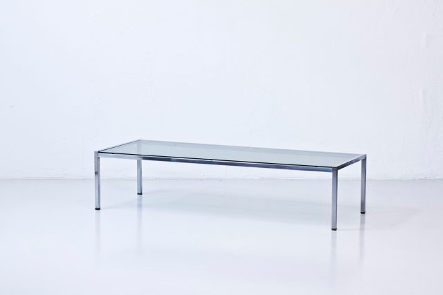 Long Glass Coffee Table 1960s For Sale At Pamono