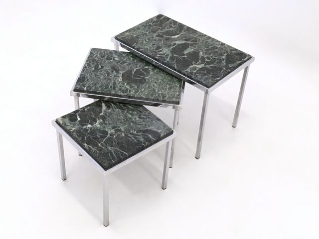 green alps marble nesting tables, 1970s for sale at pamono