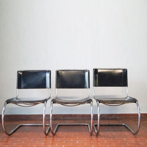 Vintage MR 10 Lounge Chairs by Mies Van der Rohe for Thonet Set