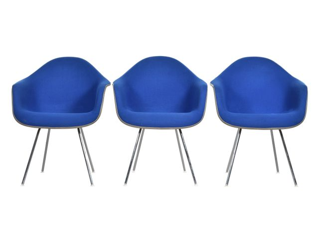 Blue Amp Greige Dax Chairs By Charles Amp Ray Eames For Herman