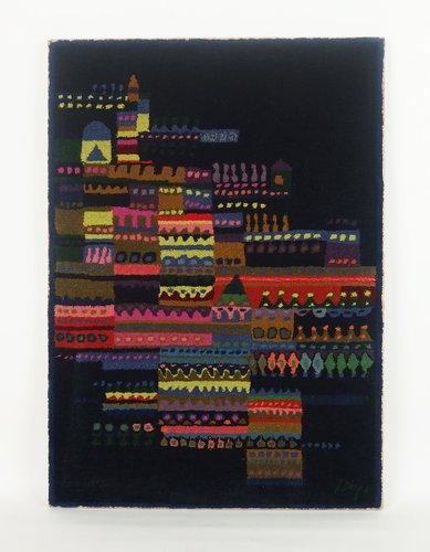 wandteppich aus gekn pfter wolle von schwabinger kunstler kollection 1960er bei pamono kaufen. Black Bedroom Furniture Sets. Home Design Ideas