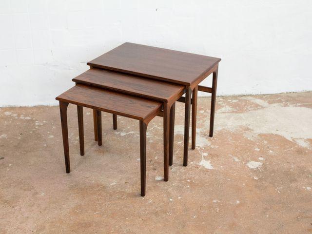 d nische vintage satztische aus palisander bei pamono kaufen. Black Bedroom Furniture Sets. Home Design Ideas