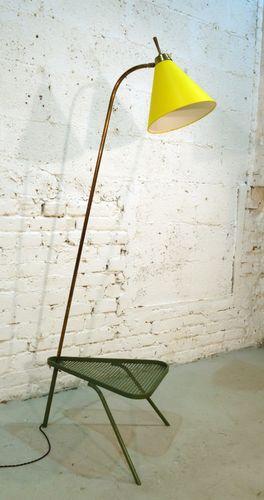 franz sische stehlampe mit beistelltisch 1950er bei pamono kaufen. Black Bedroom Furniture Sets. Home Design Ideas