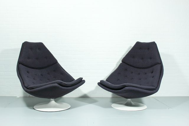 Vintage f588 lounge chairs by geoffrey harcourt for for Artifort chaise lounge