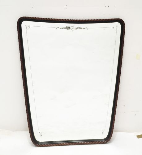 gro er ge tzter italienischer spiegel mit seilstrang. Black Bedroom Furniture Sets. Home Design Ideas