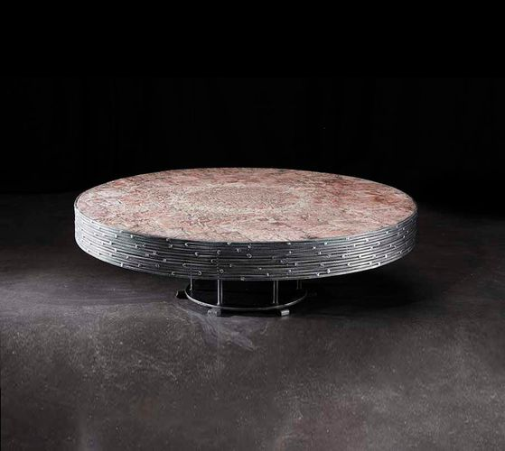Mid-Century Belgian Steel and Rose Quartz Coffee Table by Pia Manu, 1965  for sale at Pamono - Mid-Century Belgian Steel And Rose Quartz Coffee Table By Pia Manu