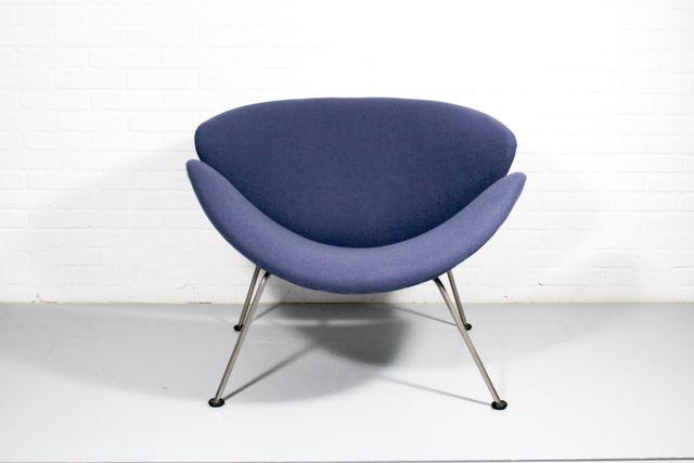 fauteuil vintage orange slice par pierre paulin pour artifort en vente sur pamono. Black Bedroom Furniture Sets. Home Design Ideas