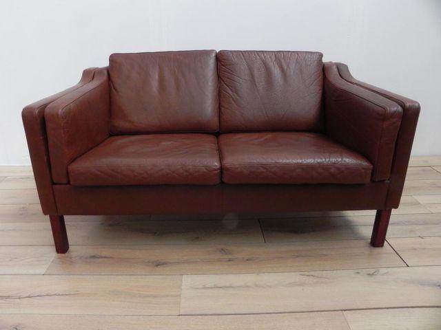 braunes skandinavisches vintage ledersofa bei pamono kaufen. Black Bedroom Furniture Sets. Home Design Ideas