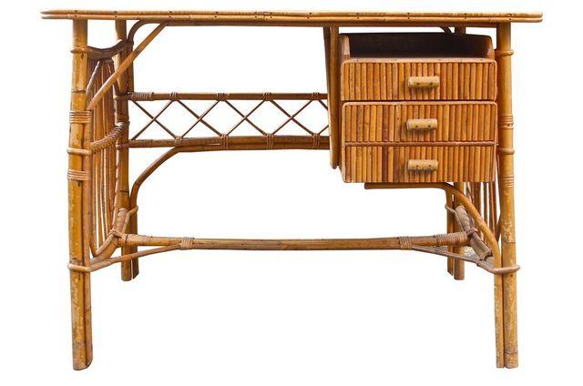 Rattan Desk 1950s For Sale At Pamono
