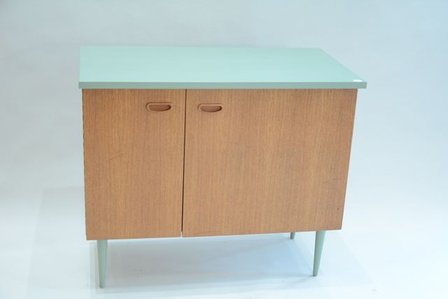 Vintage cabinet in wood 1950s for sale at pamono for 1950 kitchen cabinets for sale