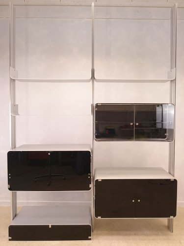modulares aluminium regal von michel ducaroy f r ligne roset 1970er bei pamono kaufen. Black Bedroom Furniture Sets. Home Design Ideas