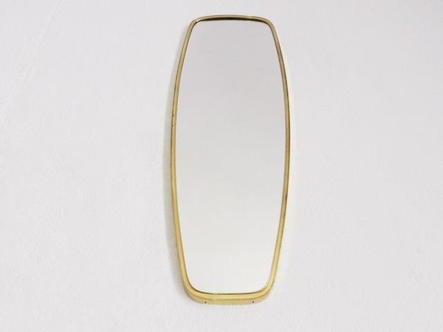 Long miroir mid century en laiton italie 1950s en vente for Miroir en long