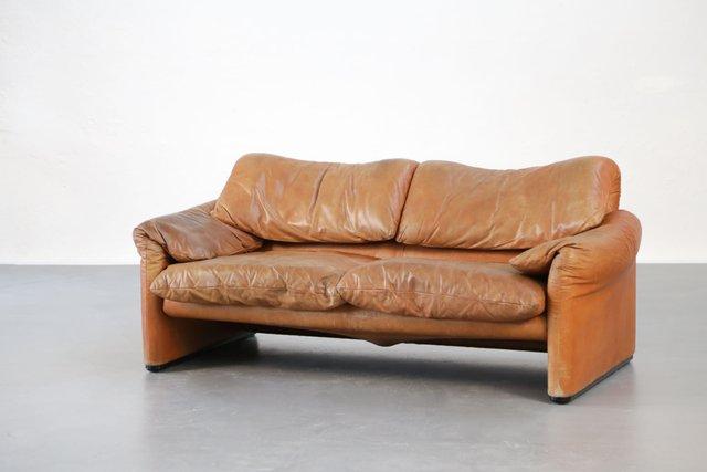 vintage maralunga sofa von vico magistretti f r cassina bei pamono kaufen. Black Bedroom Furniture Sets. Home Design Ideas