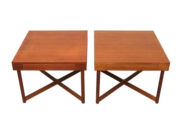 d nische viereckige teak couchtische 1960er 2er set bei. Black Bedroom Furniture Sets. Home Design Ideas