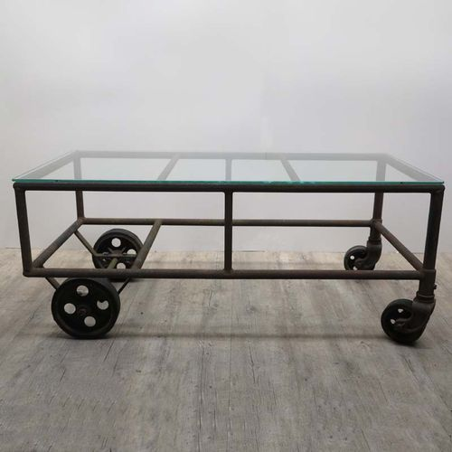 Antique Industrial Cart Coffee Table: Vintage Industrial Cart Coffee Table For Sale At Pamono