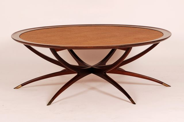 Mid Century Coffee Table With Spider Shaped Legs From