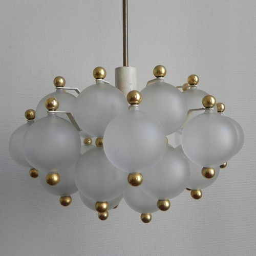 vintage h ngelampe mit 31 glaskugeln bei pamono kaufen. Black Bedroom Furniture Sets. Home Design Ideas