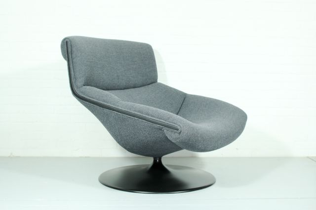 Vintage f520 lounge chair by geoffrey harcourt for for Artifort chaise lounge